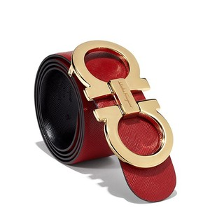 Salvatore Ferragamo Gold Gancini REVERSIBLE Belt