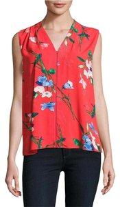 T Tahari Floral Summer Top
