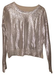Banana Republic Party Top silver