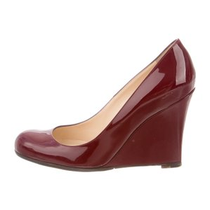 Christian Louboutin Burgundy Wedges