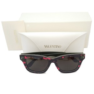 Valentino Fluorescent Army Green Sunglasses w Black Lens
