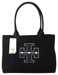 Tory Burch Satchel in Black/White Logo