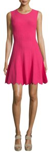 Alice + Olivia short dress Magenta on Tradesy