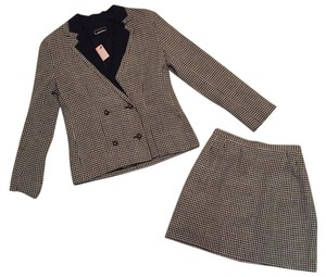 Chanel Houndstooth skirt suit with Lion buttons