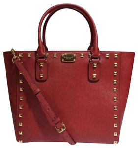 Michael Kors Jet Set Item Snap Pocket Jet Set Travel Tote in Cherry Nickle
