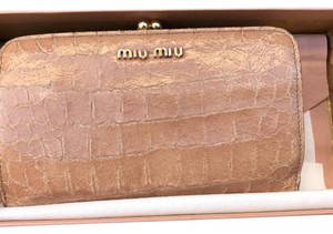 Miu Miu Crocodile Embossed Patent Authentic