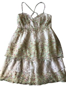 Element short dress Cream/Floral Floral Lace Spring on Tradesy