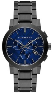 Burberry NWT Men's Chronograph Gray Ion-Plated WATCH BU9365