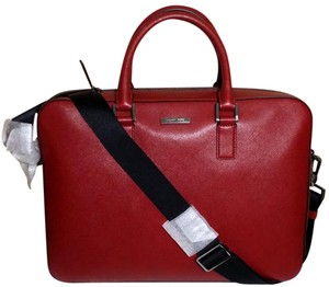 Michael Kors Blue Backpack Satchel in Cardinal Red