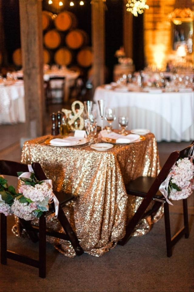 Gold Sequin Tablecloth Wedding Decorations Table Decor