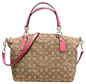 Coach Handbag Kelsey 33737 36625 Satchel in Outline C strawberry