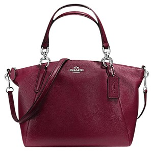 Coach Soft Pebble Classic Hot Leather Satchel in Burgundy