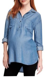 Old Navy maternity chambray denim pullover tunic