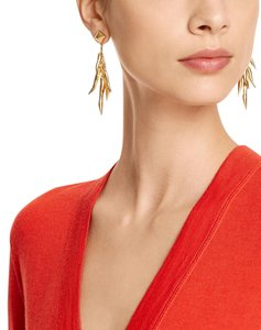 Tory Burch NEW!!! Tags Gold Tory Burch Dangle Metallic Earrings NWT