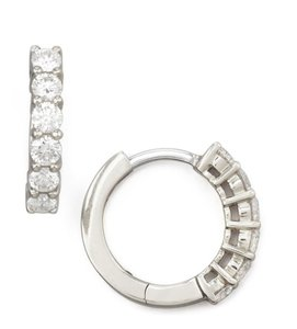 Roberto Coin Roberto Coin 13mm White Gold Diamond Hoop Earrings, 0.7ct