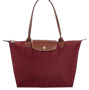 Longchamp Tote in maroon