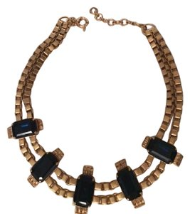 J.Crew JCrew Dark Blue Crystal Chain Necklace