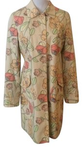 Ann Taylor LOFT light yellow floral Jacket