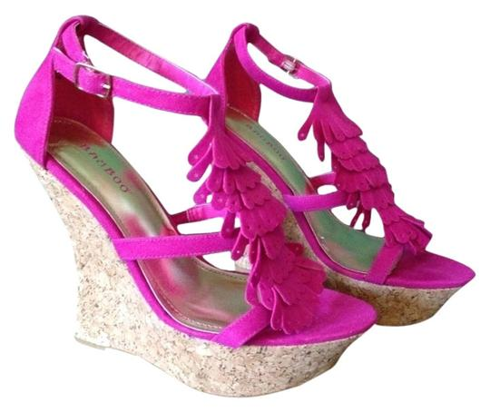 Bamboo Hot Pink Wedges