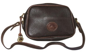 Dooney & Bourke & Dark Brown Leather Handbags Cross Body Bag