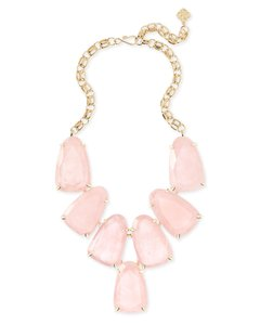 Kendra Scott Kendra Scott Harlow Statement Necklace In Rose Quartz