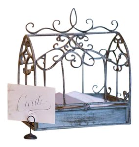 Vintage Birdcage Card Holder For Wedding Reception