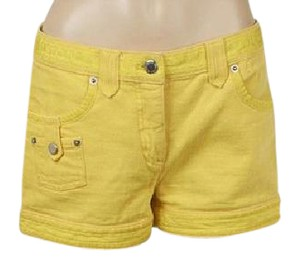 Louis Vuitton Denim Lv Monogram Silver Hardware Neverfull Mini/Short Shorts Yellow
