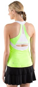 Lululemon New Lululemon Run Make It Count Tank Neon Green white