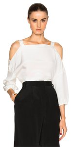 Tibi Vince Iro Tory Burch The Row Elizabeth James Top White