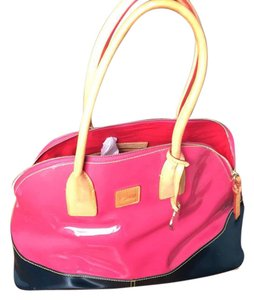 Dooney & Bourke Tote in Pink and Navy Blue