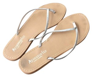 Accessorize loves leather silver Sandals