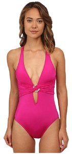 Trina Turk Garden Party Solids Cross Back One-Piece Swimsuit