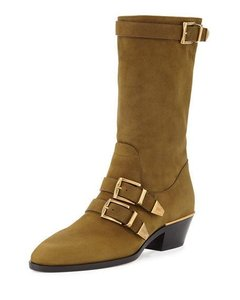 Chloé Olive Boots