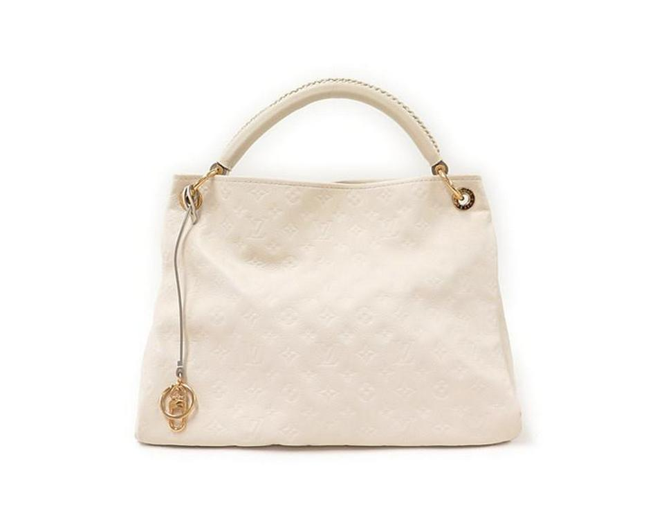 677f1b98c17e Louis Vuitton Artsy Mm Empreinte Neige Ivory White Leather Hobo Bag ...