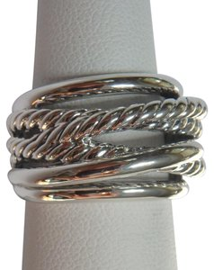 David Yurman Sterling Silver Crossover Narrow Ring size 7