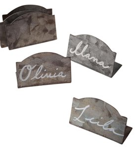 BHLDN Gray Metal Chalkboard Place Cards - 18 Total Ceremony Decoration