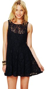 Free People Miles Black Lace Sz Medium Could Fit Sz's 8-10 Dress