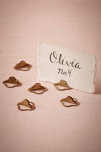 BHLDN Brass Place Card Holders - 24 Total Other