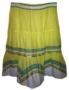 Tibi Skirt Yellow
