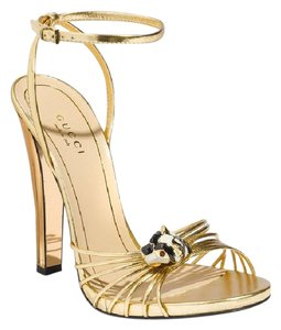 Gucci Lucille Ornate Gold Sandals