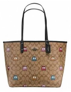 Coach Pac Man Signature Pac-man Tote in Brown