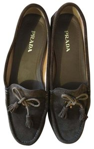 Prada Loafer Moccasin Casual Brown Flats