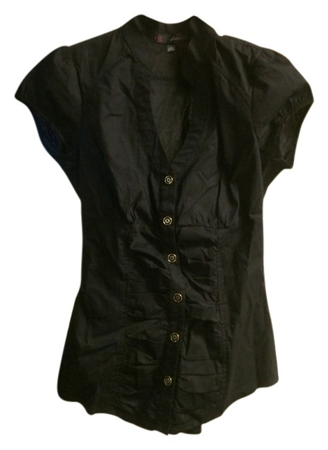 Heart Soul Button Down Shirt Black