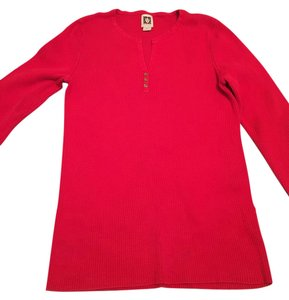 Anne Klein Anthropology Helmut Lang Rag & Bone Sweater Button Down Shirt Red