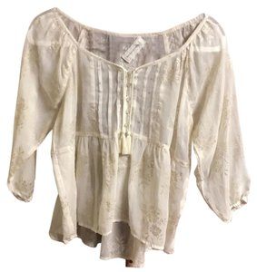 Abercrombie & Fitch Top cream with gold details