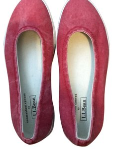 L.L.Bean sun washed red Flats