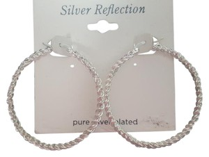 Silver Reflection Hoops