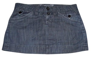 American Eagle Outfitters Jean Mini Mini Skirt blue