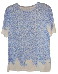Tory Burch T Shirt Blue and White