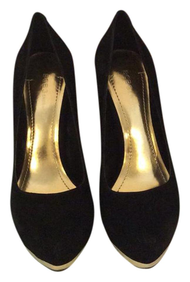 ee7cc2f3d BCBGeneration Black Gold Bg-putnam Pumps Size US 7.5 Regular (M